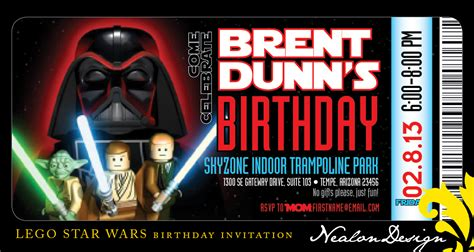 star wars birthday invitations template best template