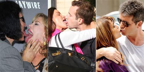 celebrity best kiss the 42 worst celebrity kisses starring simon cowell kim