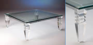 Glass Top Dining Room Set Acrylic Lucite Furniture Cocktail End Tables Consoles