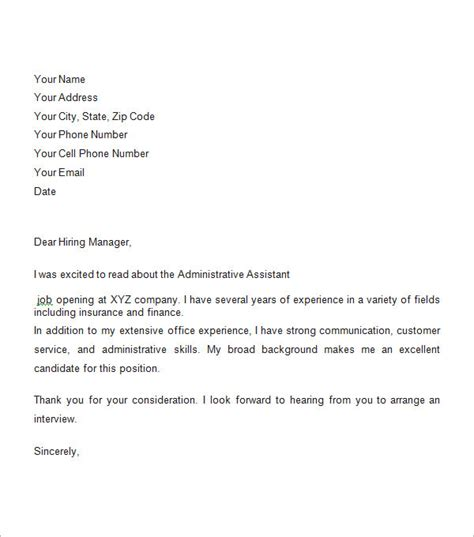 cover letter format for a sle business cover letter 8 free documents in pdf word