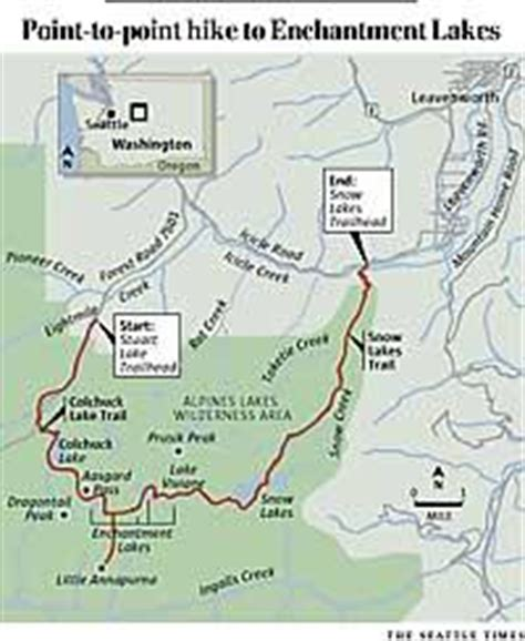 enchantments trail map the seattle times outdoors a looong day s hike to the