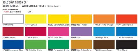 triton paint color chart ideas paint chips 1980 jaguar goya triton acrylic artists