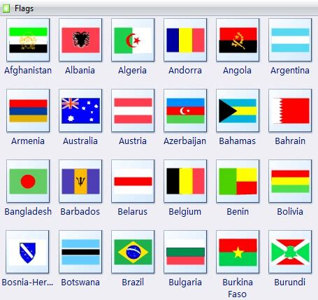 flags of the world to download free country flags clipart
