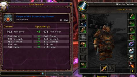 wow upgrade alchemy trinket patch 5 1 ptr upgrading items with justice and valor