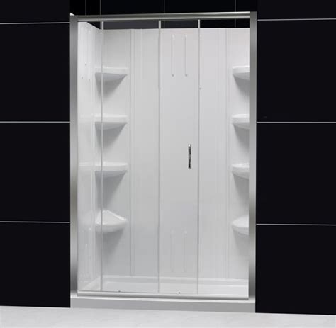 Infinity Shower Door Infinity Sliding Shower Door Glass Shower Door From Dreamline 60 Quot Shower Door And 48 Quot Bathroom