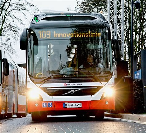 volvo trucks germany volvo s first electric hybrid bus in service in germany