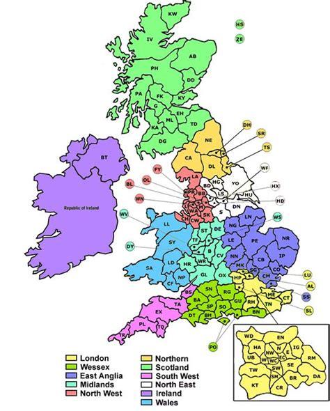 printable maps uk postcodes uk postcode map google search random pinterest