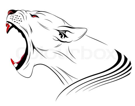 Toner Fotocopy Kepala Macan Black Panther Vector Leopard Tribal Stock Vector Colourbox