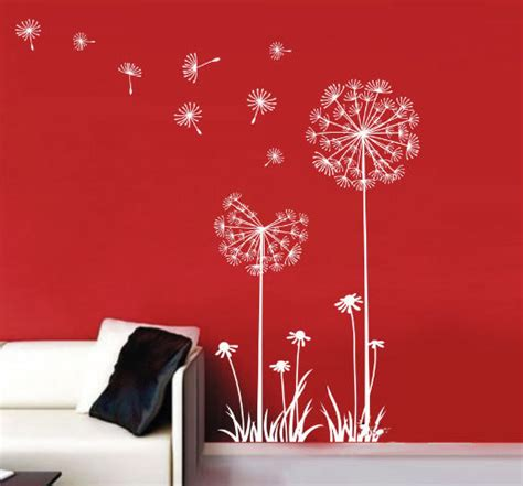 dandelion wall sticker wind puffed away the seeds of the dandelion wall stickers wallstickerdeal