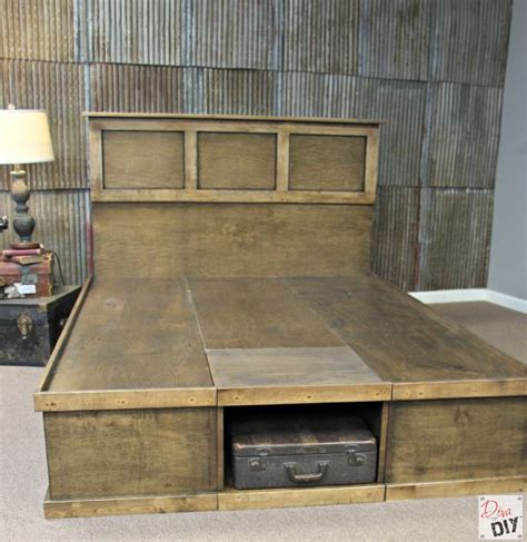 how to make a platform bed with storage how to make your own diy platform bed with storage