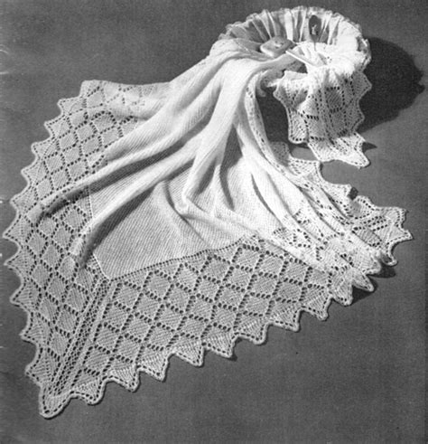 vintage shawl knitting patterns knitted shawls covers and blankets knitting patterns