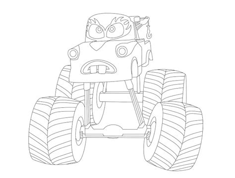 Monster Truck Mater Coloring Page | monster truck mater coloring pages get coloring pages