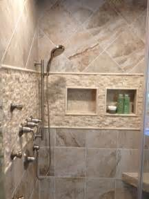 Porcelain Tile Bathroom Ideas mikonos coral sand porcelain tiles installed in a shower with stone