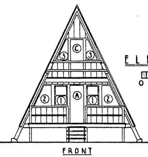 a frame house plans free a frame house plan 24 feet high