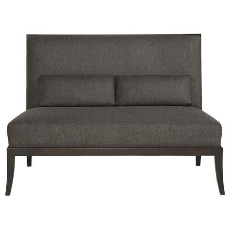 modern armless sofa adley modern classic mocha wood grey armless sofa kathy