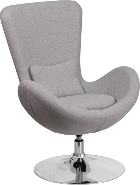 Fab Flash Designer And Carpet Relations Strictly Business by Light Gray Fabric Egg Series Reception Lounge Side Chair
