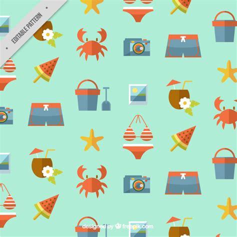 svg pattern object flat summer objects pattern vector free download
