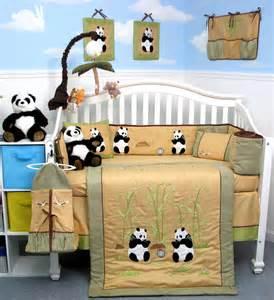 soho panda crib bedding collection baby bedding