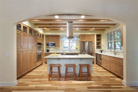 natural hickory floor kitchen rustic hickory kitchen cabinets kitchen traditional with