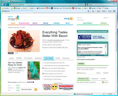 msn homepage images search