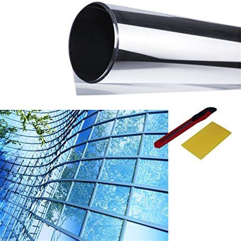 Sichtschutzfolie Auf Fenster Anbringen spiegelfolie 122x200cm sonnenschutzfolie spionfolie uv