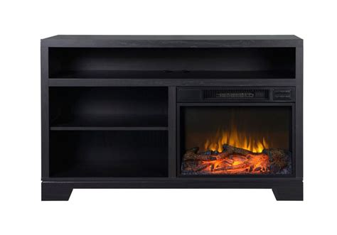 Electric Fireplace Inserts Vancouver flamelux vancouver black oak electric media fireplace
