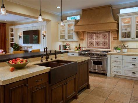 eat in kitchen island with farmhouse sink hgtv