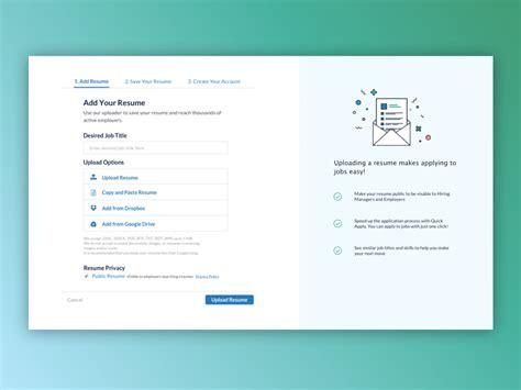 resume upload ui redesign by mauricio dumet dribbble