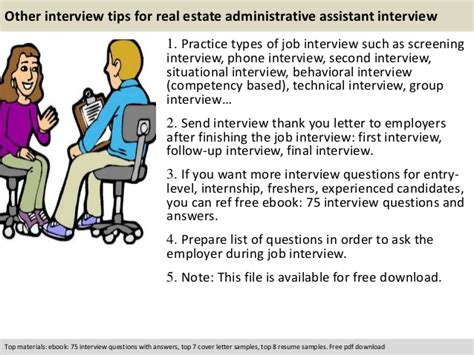 real estate administrative assistant questions