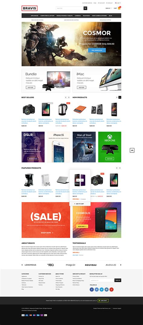 Bravis Responsive Electronics Shopify Template Sections Ready Released Halothemes Com Shopify Templates Ecommerce
