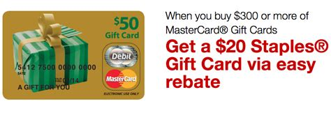 International Mastercard Gift Cards - get 20 staples gift card with 300 mastercard gift cards purchase running with miles