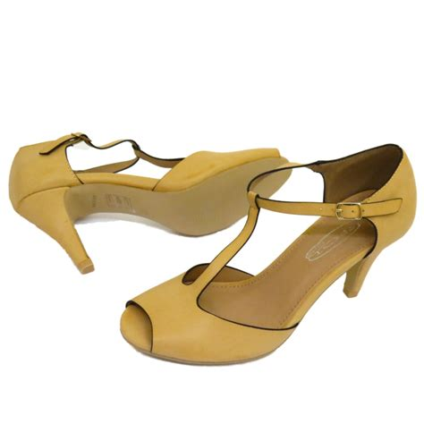 open toe t bar low heel court work shoes pumps size 3 8 ebay