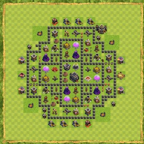 th9 hybrid bases top clash of clans town hall 9 hybrid base layouts