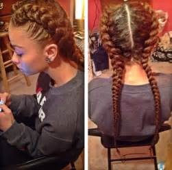 weave two duky braid hairstyle i love these two french braids mixed creation