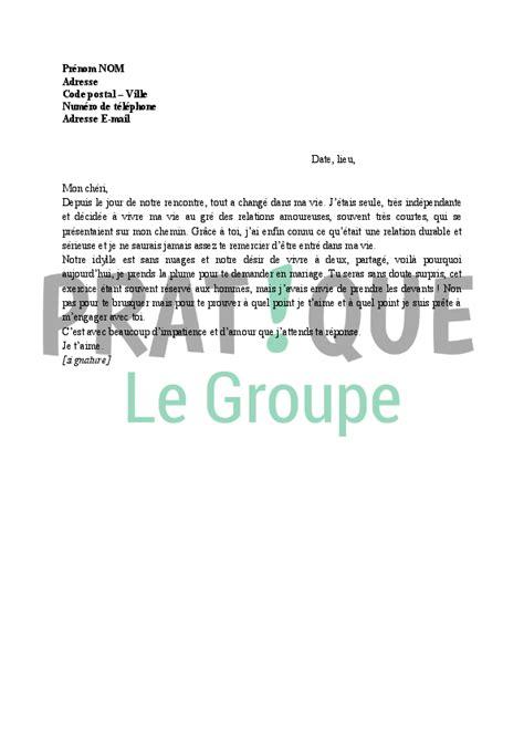 Demande De Mariage En Lettre lettre de demande en mariage par une femme pratique fr