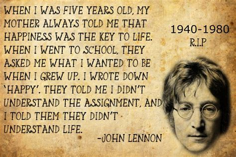 quote by john lennon when i was 5 years old my mother john lennon quote by tedmaniac on deviantart