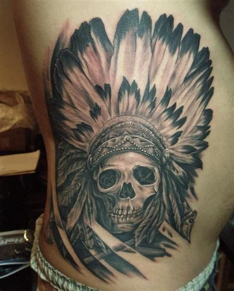 indian skull tattoos indian skull search