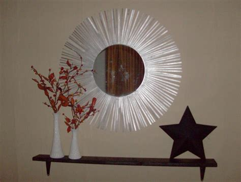 mirror craft projects make a silver starburst mirror 187 dollar store crafts