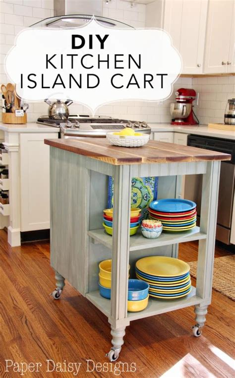 kitchen island cart ideas 37 brilliant diy kitchen makeover ideas page 7 of 8