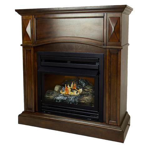 gas fireplace btu pleasant hearth 20 000 btu 36 in compact convertible ventless propane gas fireplace in cherry