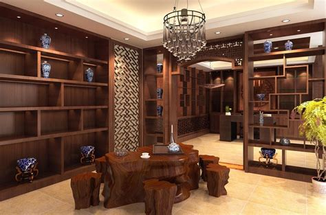 tea house interior design chinese style tea shop interior design rendering download 3d house