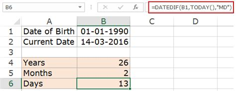 how to calculate years how to calculate age in excel using date of birth