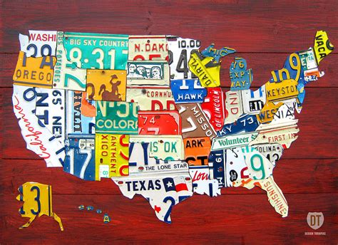 usa map license plates states america flag usa wallpapers photos pictures