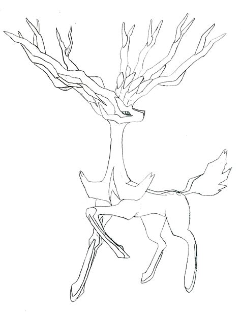 pokemon coloring pages xerneas image xerneas drawing png fanonlords wiki fandom