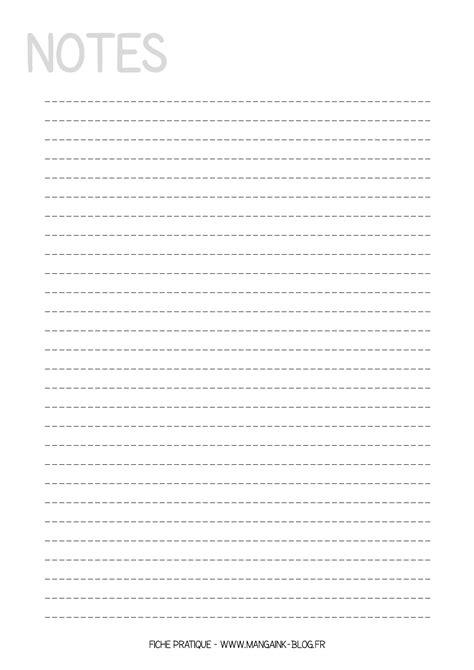 Fiche pratique à imprimer : Feuille de Notes   m   Bullet