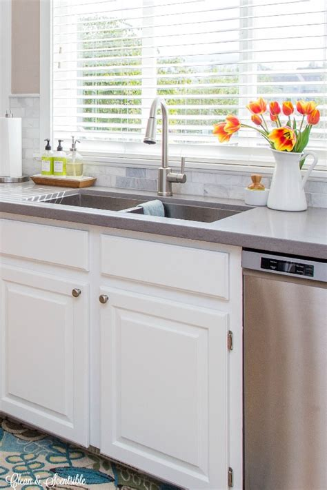 how to clean kitchen sink organizing the kitchen sink clean and scentsible