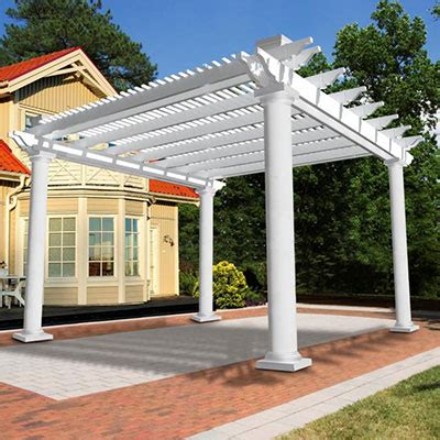 Single Pergola Designs by Vinyl Pergolas Vinyl Garden Patio Covers From Vinyl