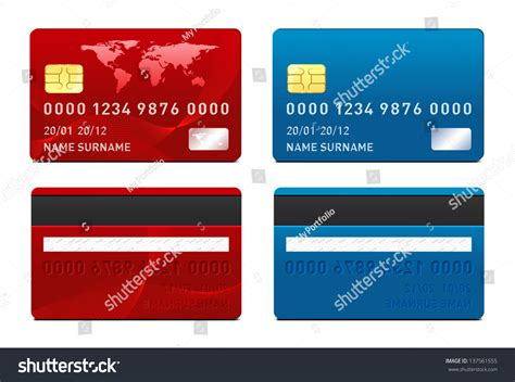 Credit Card Design Template Vector Vector Credit Card Template Stock Illustration 137561555