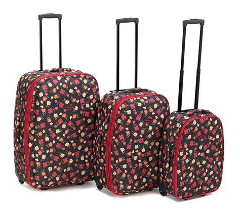 constellation 3 piece ditzy floral print suitcase set 18