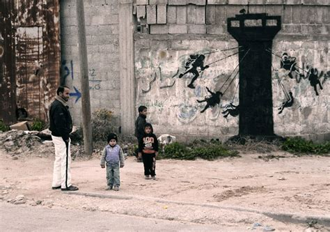 a worth living the story of a palestinian catholic books banksy sneaks into gaza to create controversial